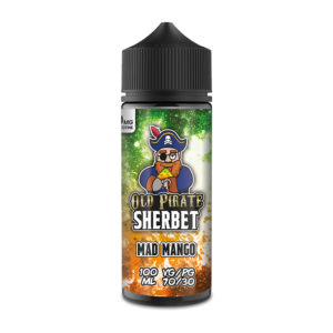 Mad Mango 100ml Eliquid Shortfills By Old Pirate Sherbet