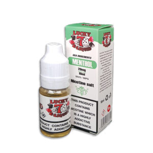 Menthol Nicotine Salt Eliquid By Lucky 7 Eliquid Salts