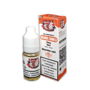 Orange Fannta Nicotine Salt Eliquid By Lucky 7 Eliquid Salts