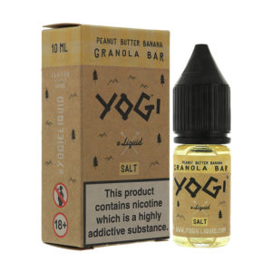 Peanut Butter Banana Granola Bar 10ml Nicotine Salt Eliquid By Yogi Salt 1