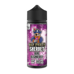 Ripe Raspberry 100ml Eliquid Shortfills By Old Pirate Sherbet