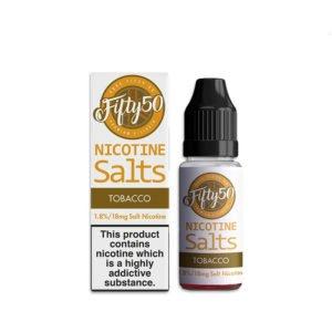 Tabak 10ml Nicotine Salt Eliquid By Fifty50 Nicotinezouten
