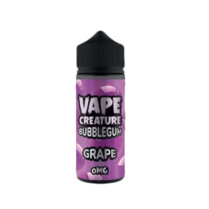 Grape Bubblegum 100ml E Liquid Shortfills By Vape Creature