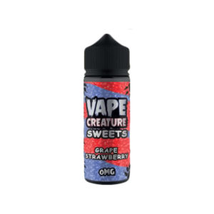 Grape Strawberry 100ml Eliquid Shortfills By Vape Creature Sweets Series