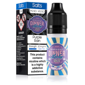 Purple Rain 10ml Nicotine Salt Eliquid By Dinner Lady Salts