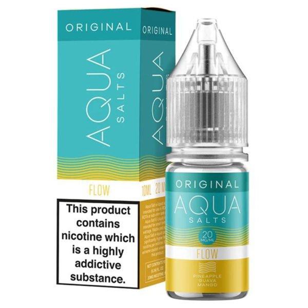 Aqua Original Flow 10ml Nicotine Salt Eliquid By Marina Vape