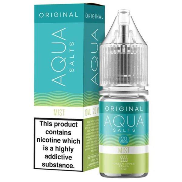 Aqua Original Mist 10ml Nicotine Salt Eliquid By Marina Vape