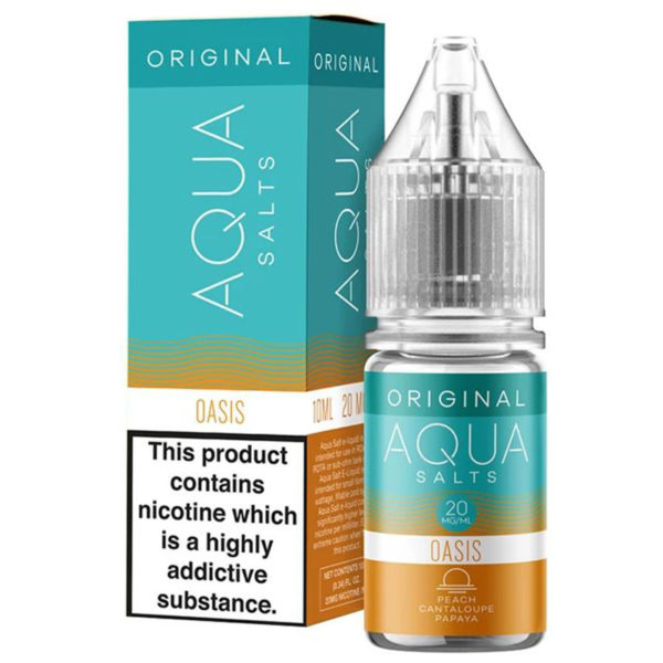 Aqua Original Oasis 10ml Nicotine Salt Eliquid By Marina Vape