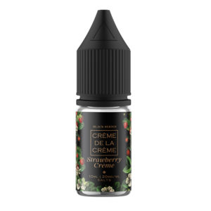 Creme De La Creme Strawberry Creme 10ml Nicotine Salt Eliquid Bottle