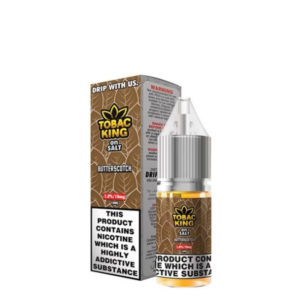 Tobac King On Salt Butterscotch 10ml Nic Salt Eliquid Flasker af Candy King