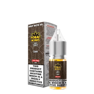 Tobac King On Salt Cuban 10ml Nic Salt Eliquid Bottles By Candy King