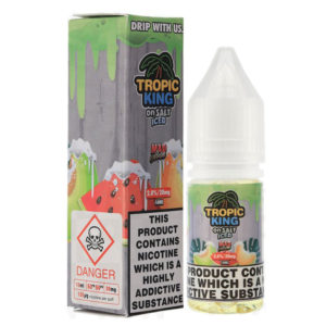 Tropic King On Salt Mad Melon Iced 10ml Nic Salt Eliquid Bottles By Candy King