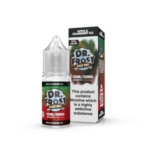Epli trönuberjaís nikótín salt eliquid flaska með kassa eftir Dr Frost