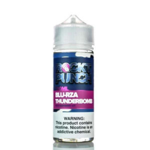 Blu Rza Thunderbomb 100ml Eliquid Shortfill Flaska eftir Rockt Punch Okami