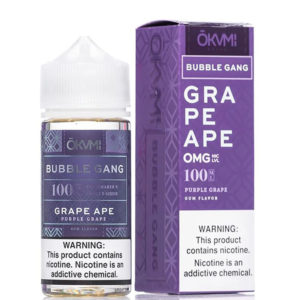 Grape Ape 100ml Eliquid Shortfill Bottle With Box By Okami Bubble Gang