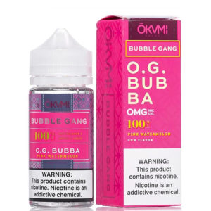 Og Bubba 100ml Eliquid Shortfill-fles met doos van Okami Bubble Gang
