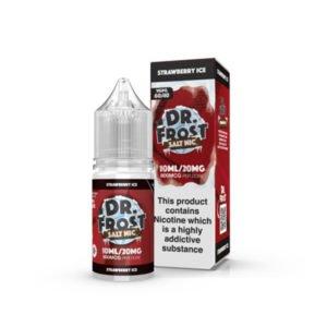Zemeņu ledus nikotīna sāls šķidruma pudele ar kastīti Dr Frost