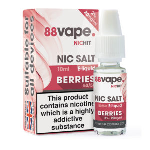 88 Vape bär Nicotine Salt Eliquid Flaska med låda