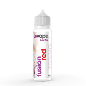 88 Vape Fusion Red 50ml Eliquid Shortfill Pudele