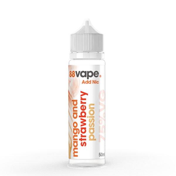 88 Vape Mango And Strawberry Passion 50ml Eliquid Shortfill Bottle