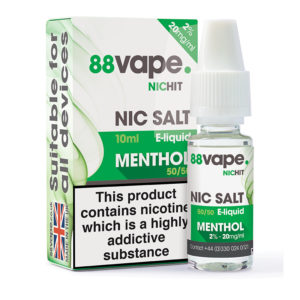 88 Vape Menthol Nicotine Salt Eliquid Bottle With Box