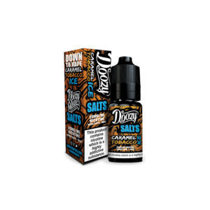 Caramel Tobacco Ice 10ml Nicotine Salt Eliquid By Doozy Vape Salts