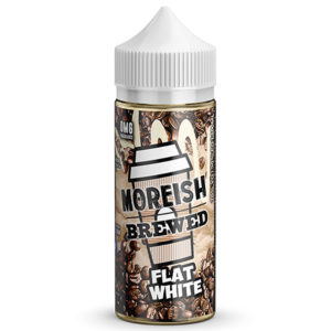 Flat White 100ml E Liquid Shortfills von Moreish Gebraut