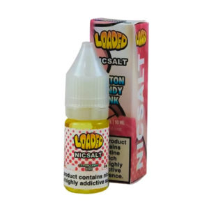Loaded Cotton Candy Pink 10 ml Nicotine Salt Eliquid Flaska med låda