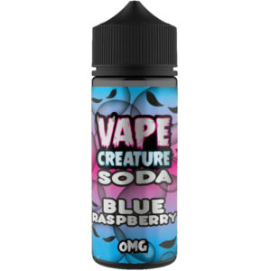 Vape Creature Blue Raspberry Soda 100ml Elfid Shortfill Bottle