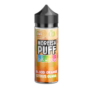 Blood Orange Citrus Guava 100ml Eliquid Shortfill Pudele ar Moreish Puff Augļi