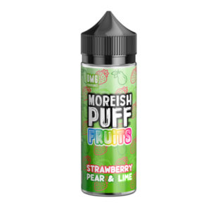 Strawberry Pear Lime 100ml Eliquid Shortfill Bottle By Moreish Puff Fruits