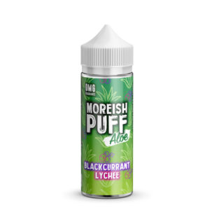 Blackcurrant Lychee 100ml Eliquid Shortfill Flasche von Moreish Puff Aloe