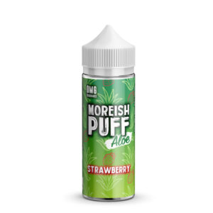 Zemeņu alvejas 100ml Eliquid Shortfill Pudele ar Moreish Puff Aloe