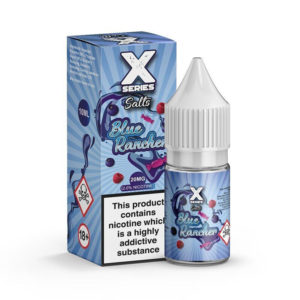 X Series Blue Rancher Nicotine Salt Eliquid Bottle With Box