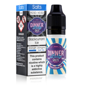 Blackcurrant Ice Nicotine Salt E-liquid Door Dinner Lady Zouten