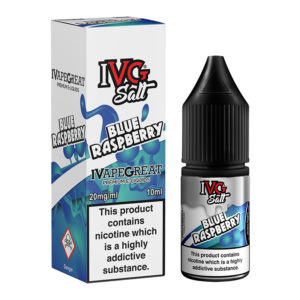 Blue Raspberry Nicotine Salt Eliquid Bottle With Box By I Vg Salt
