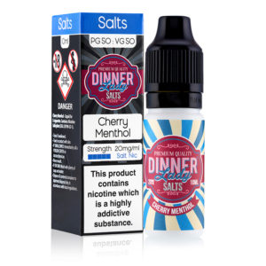Cherry Menthol 10ml Nicotine Salt Eliquid By Dinner Lady Salts