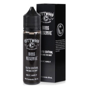 Cuttwood Boss Reserve 50ml Eliquid Shortfill бутилка с кутия