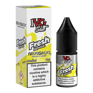Fresh Lemonade Nicotine Salt Eliquid Bottle With Box By I Vg Salt
