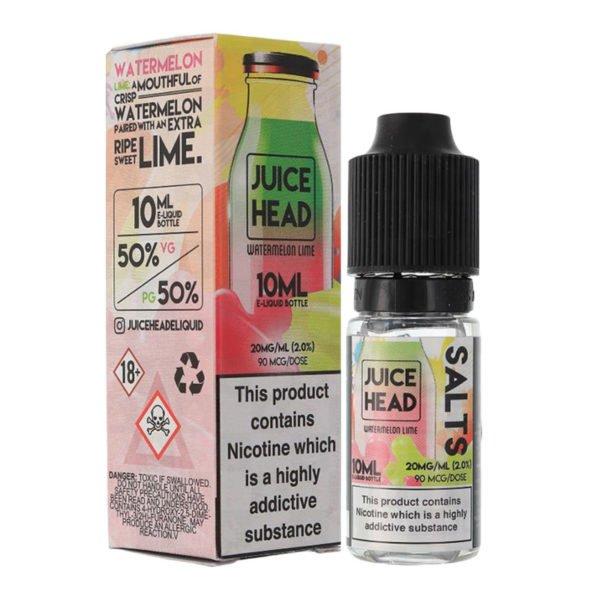 Juice Head Watermelon Lime Nicotine Salt Eliquid Bottle With Box