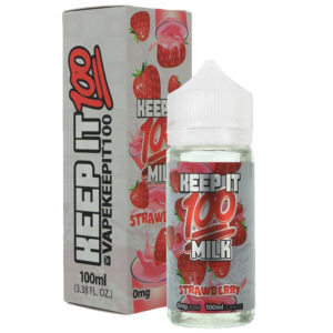 Keep It 100 Milk Strawberry 10ml Eliquid Shortfill Bottle With Box