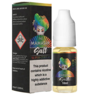 Mamasan Super Cereal 10ml nikótín salt eliquid flaska með kassa