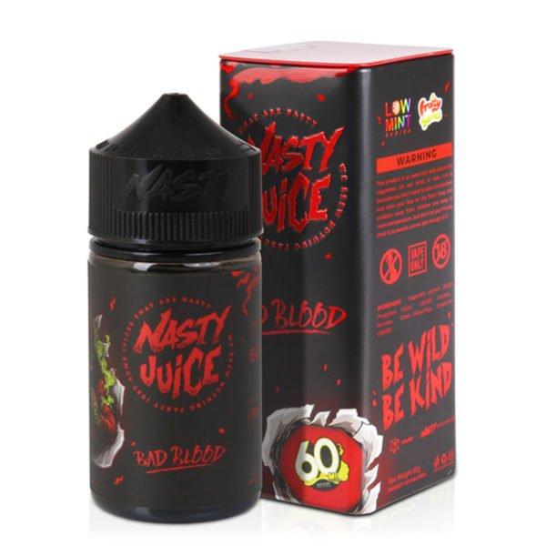 Nasty Juice Bad Blood Eliquid Shortfill Bottle With Box