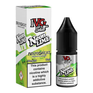 Neon Lime Nicotine Salt Eliquid Bottle With Box By I Vg Salt