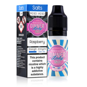 Raspberry 10ml Nicotine Salt Eliquid By Dinner Lady Salts