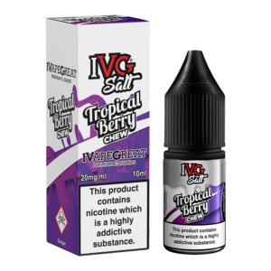 Tropical Berry Chew Nicotine Salt Eliquid Bottle With Box By I Vg Salt