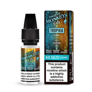 Tropika Nikótín Salt Eliquid By Twelve Monkeys Sölt