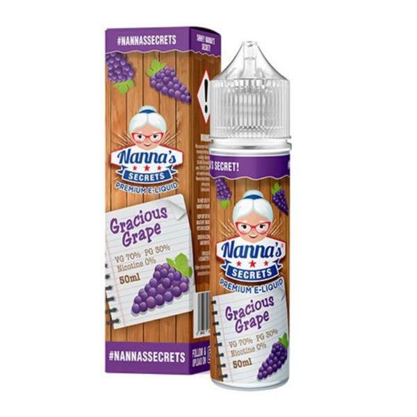 Gracious Grape 50ml Eliquid Shortfill-flessen van Nanas Secrets