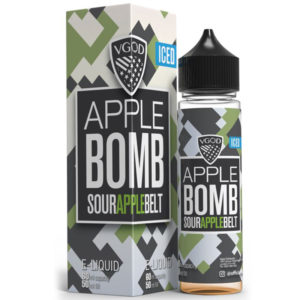Iced Apple Bomb E-væske Shortfill By Vgod