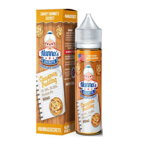 Cinnamon Pudding 50ml Eliquid Shortfill Bottles By Nanas Secrets